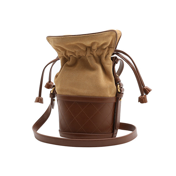 Stylish Womens Bucket Bag Leather Crossbody Bags Purse for Women