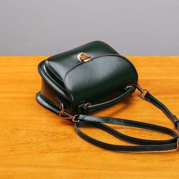 Stylish Womens Genuine Leather Satchel Bag Crossbody Bags for Women Vintage