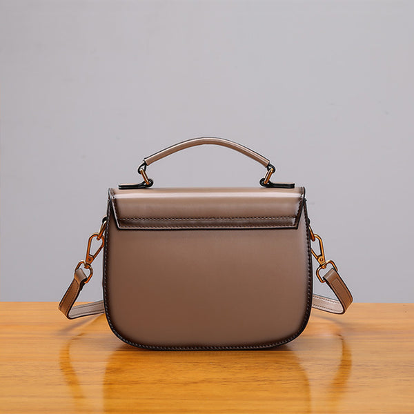 Stylish Womens Genuine Leather Satchel Bag Crossbody Bags for Women cute