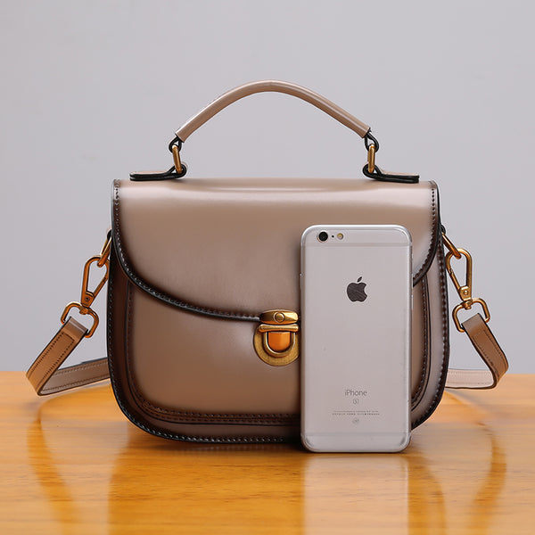 Stylish Womens Genuine Leather Satchel Bag Crossbody Bags for Women fashion