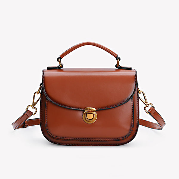 Stylish Womens Genuine Leather Satchel Bag Crossbody Bags for Women
