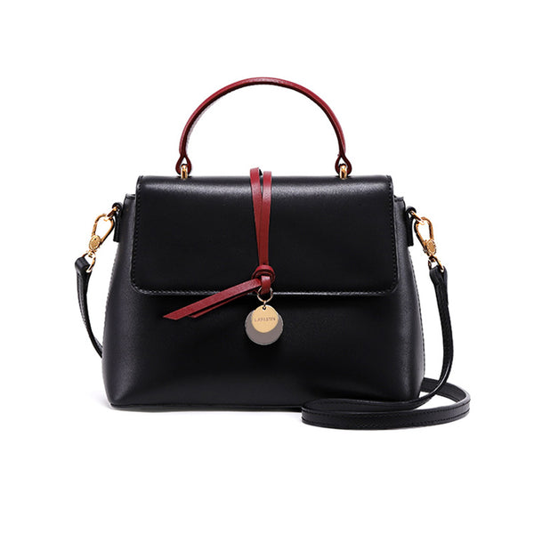 Stylish Womens Leather Handbags Crossbody Bags Shoulder Bag for Women Black