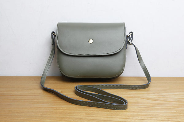 Stylish Womens Leather Saddle Bag Crossbody Bags Purse for Women Accessories