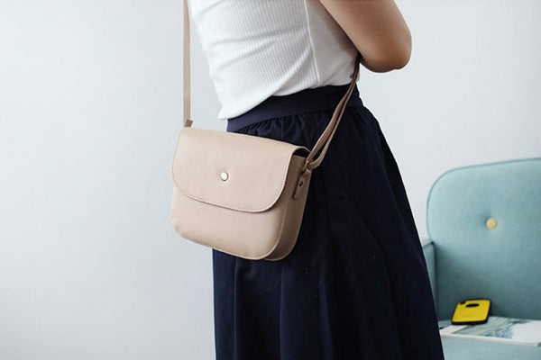 Stylish Womens Leather Saddle Bag Crossbody Bags Purse for Women Details