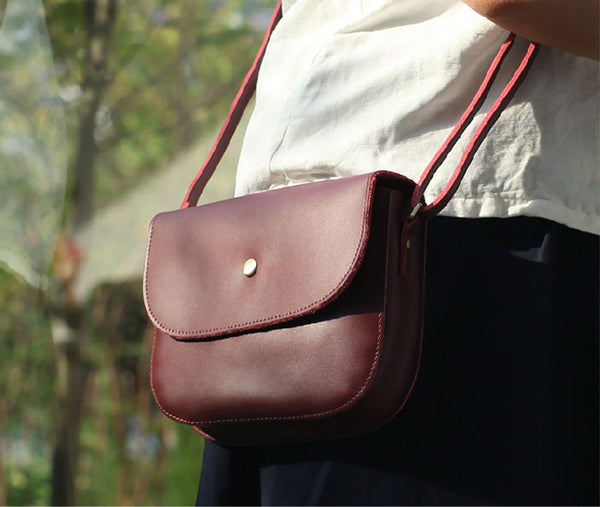 Stylish Womens Leather Saddle Bag Crossbody Bags Purse for Women stylish