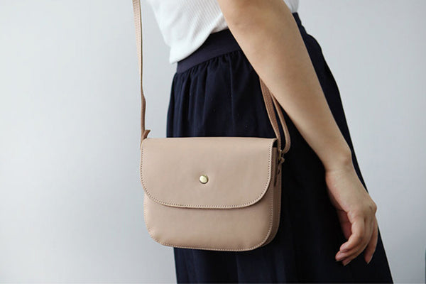 Stylish Womens Leather Saddle Bag Crossbody Bags Purse for Women fashion