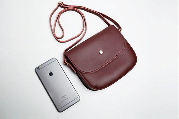Stylish Womens Leather Saddle Bag Crossbody Bags Purse for Women gift