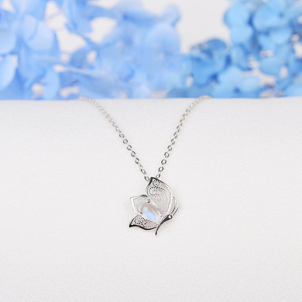 Topaz Moonstone Pendant Necklace Gold Gemstone Jewelry Women gemstone jewelry