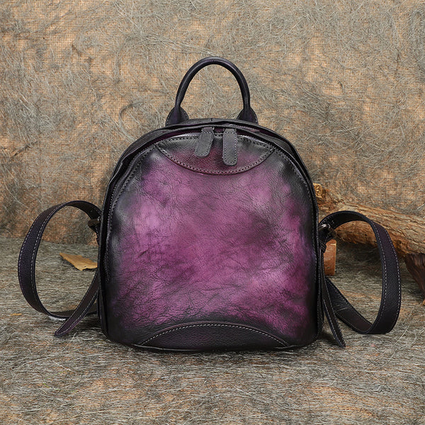 Trendy Ladies Genuine Leather Backpack Purse Book Bag Purse for Women Accessories