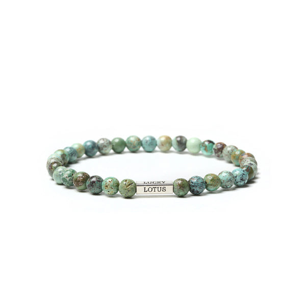 Turquoise Bead Silver Bracelet Handmade Gemstone Jewelry Accessories Women Men december birthstone