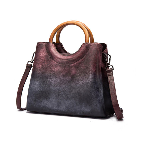 Unique Dyed Leather Womens Handbags Shoulder Bag Purses for Women