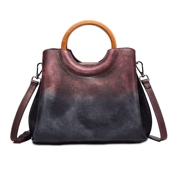 Unique Dyed Leather Womens Handbags