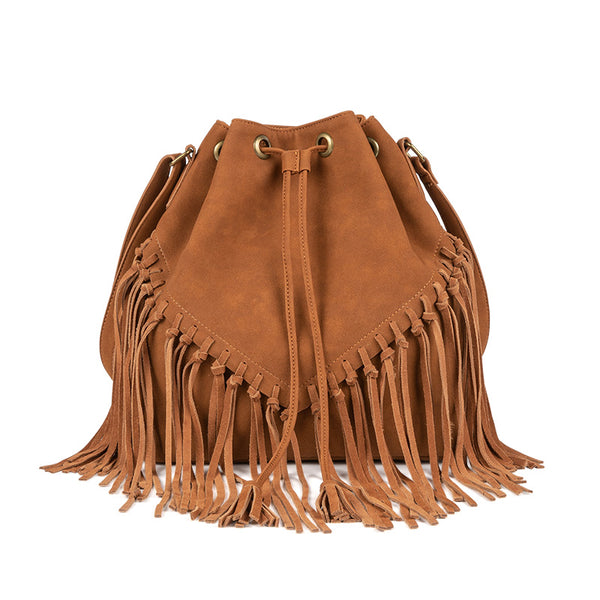 Vintage Boho Crossbody Fringe Purse