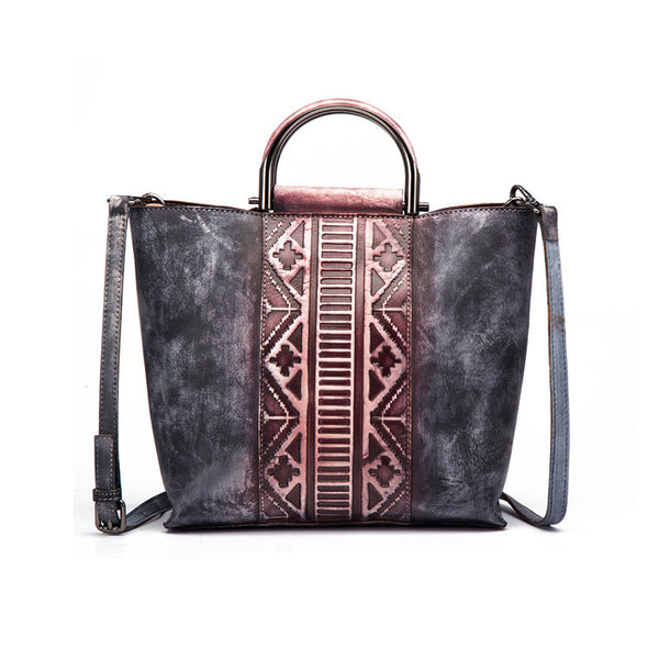 Vintage Dyed Leather Womens Handbags