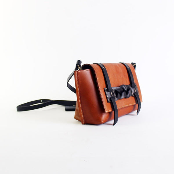 Vintage Handmade Leather Crossbody Shoulder Shell Bags Purses Accessories Women woven leather