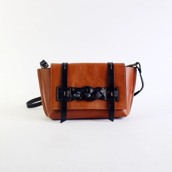 Vintage Handmade Leather Crossbody Shoulder Shell Bags Purses Accessories Women