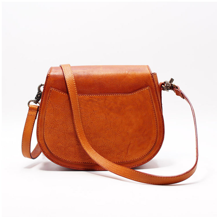 7904b59ab484 Women Saddle Bags Brown Leather Crossbody Bags Shoulder Bag for ...