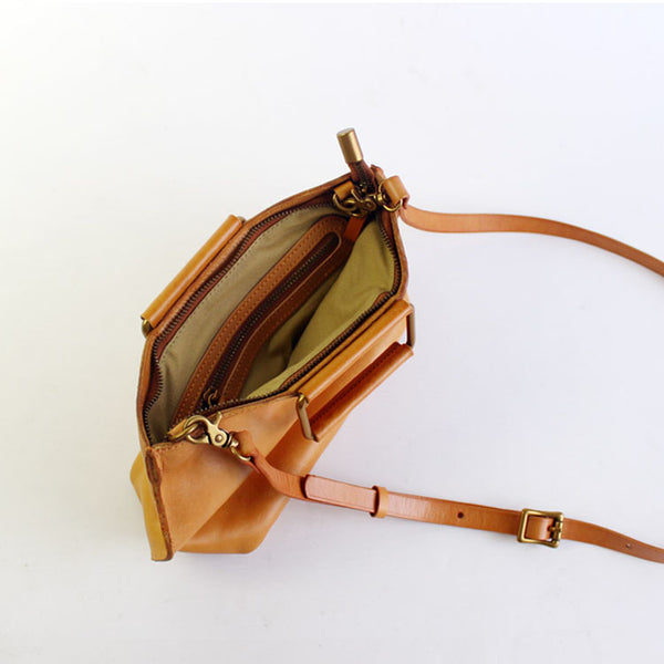 Vintage Handmade Leather handbag Crossbody Shoulder Motorcycle Bags Purses Accessories Women inside