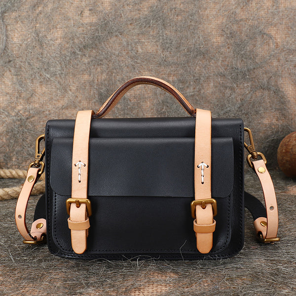 Vintage-Ladies-Leather-Crossbody-Messenger-Bag-Satchel-Bag-Purses-for-Women-Black