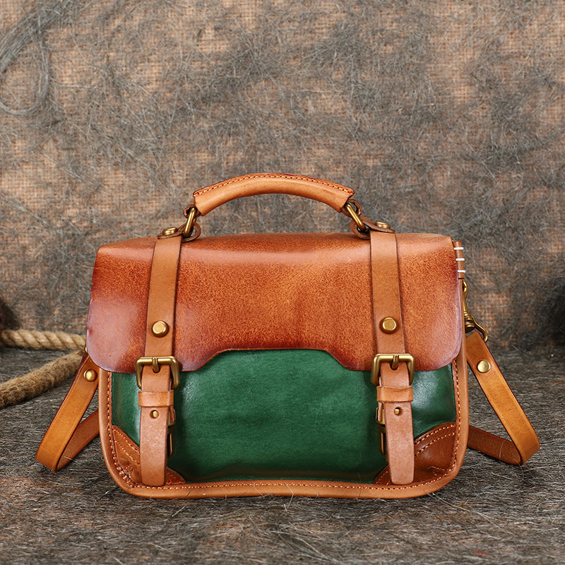 Vintage Ladies Leather Crossbody Messenger Bag Satchel Handbags for Women Accessories