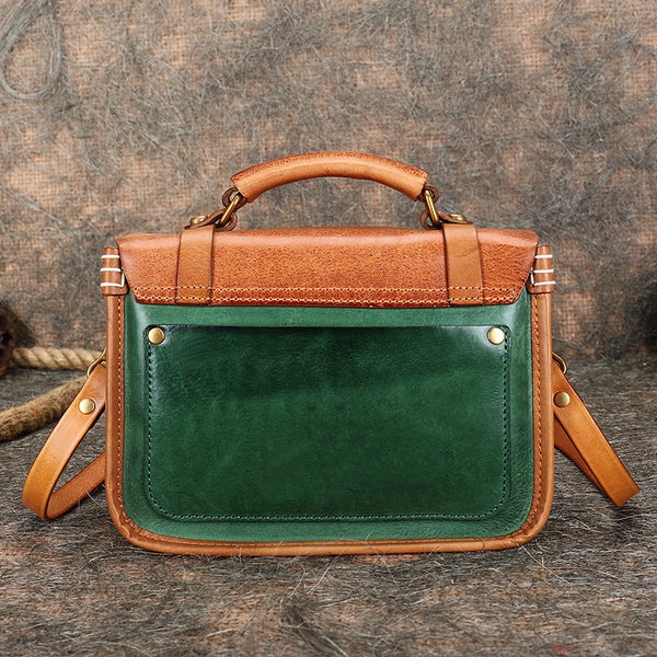 Vintage Ladies Leather Crossbody Messenger Bag Satchel Handbags for Women