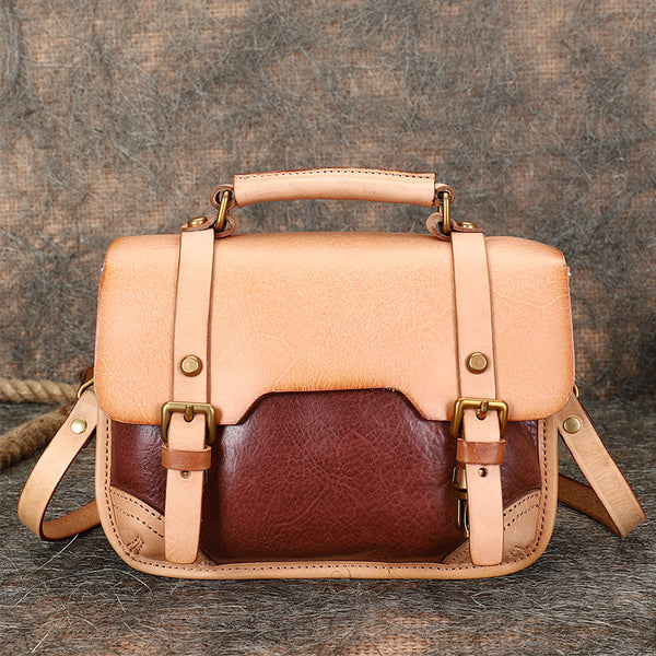 Vintage Ladies Leather Crossbody Messenger Bag Satchel Handbags for Women Beautiful