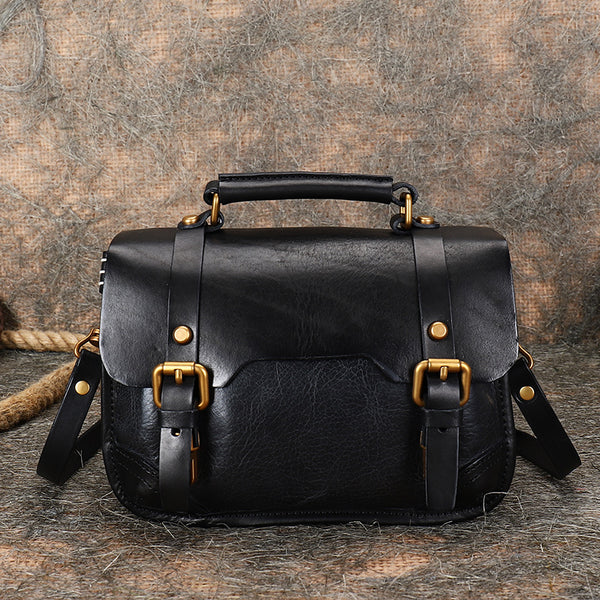 Vintage Ladies Leather Crossbody Messenger Bag Satchel Handbags for Women Best