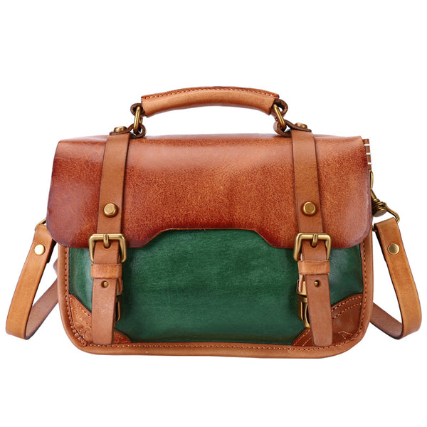Vintage Ladies Leather Crossbody Messenger Bag Satchel Handbags for Women Cool