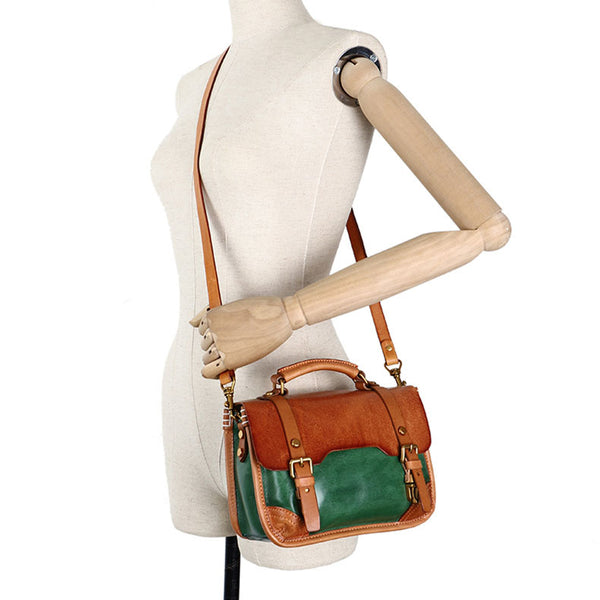 Vintage Ladies Leather Crossbody Messenger Bag Satchel Handbags for Women Durable