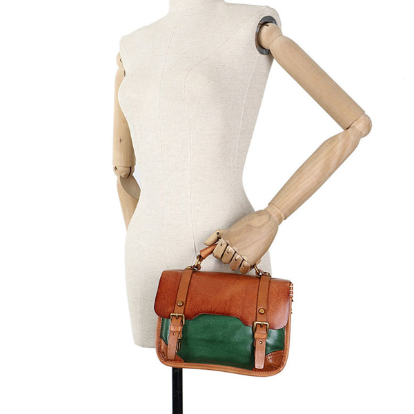 Vintage Ladies Leather Crossbody Messenger Bag Satchel Handbags for Women Fashion