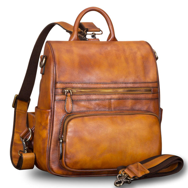 Vintage Ladies Leather Satchel Backpack Purse Sling Bags for Women Accessories