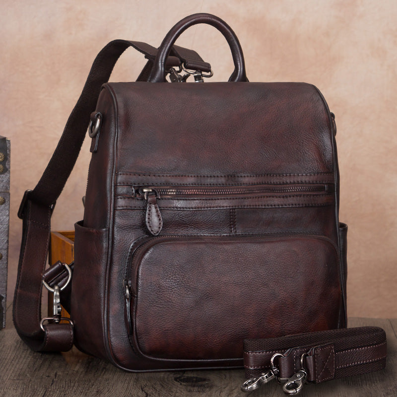 Vintage Ladies Leather Satchel Backpack Purse Sling Bags for Women Affordable