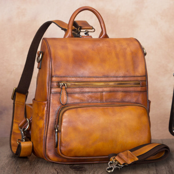Vintage Ladies Leather Satchel Backpack Purse Sling Bags for Women Beautiful