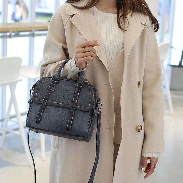 Vintage Leather Women Handbags Leather Crossbody Bags Purses for Women Brown