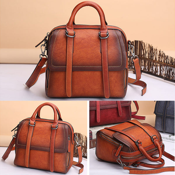 Vintage Leather Women Handbags Leather Crossbody Bags Purses for Women Details