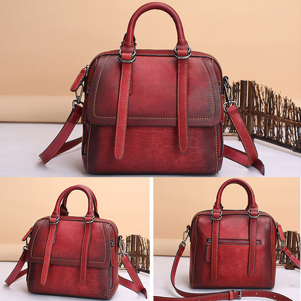 Vintage Leather Women Handbags Leather Crossbody Bags Purses for Women Genuine Leather