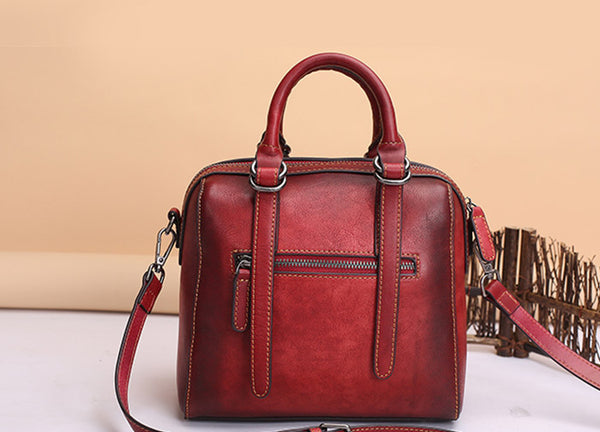 Vintage Leather Women Handbags Leather Crossbody Bags Purses for Women Handmade