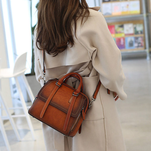 Vintage Leather Women Handbags Leather Crossbody Bags Purses for Women cool