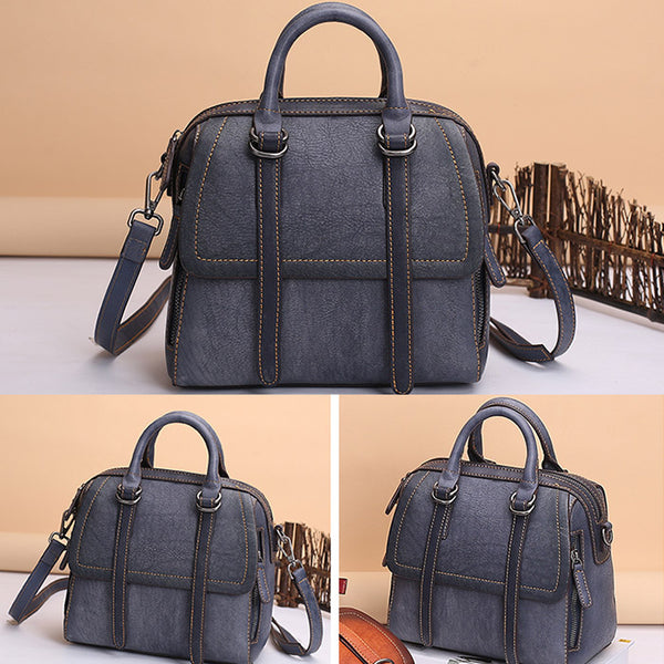 Vintage Leather Women Handbags Leather Crossbody Bags Purses for Women fashion