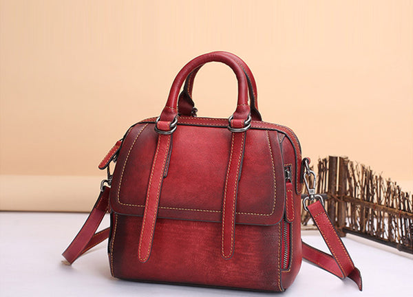 Vintage Leather Women Handbags Leather Crossbody Bags Purses for Women gift