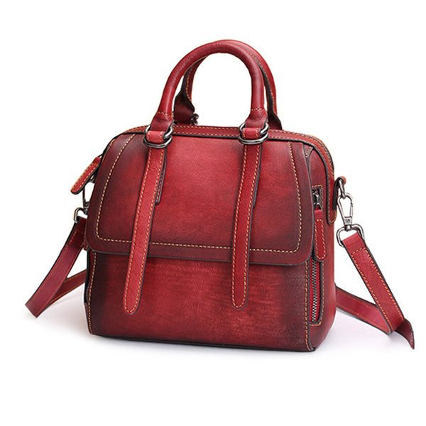 Vintage Leather Women Handbags Leather Crossbody Bags