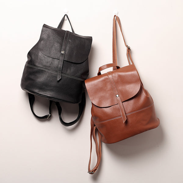 Vintage Leather Womens Backpack Purse Cool Backpacks for Women beautiful