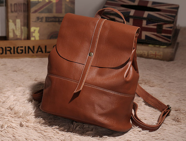 Vintage Leather Womens Backpack Purse Cool Backpacks for Women cool
