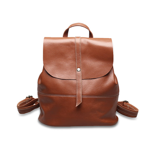 Vintage Leather Womens Backpack Purse Cool Backpacks for Women Accessories