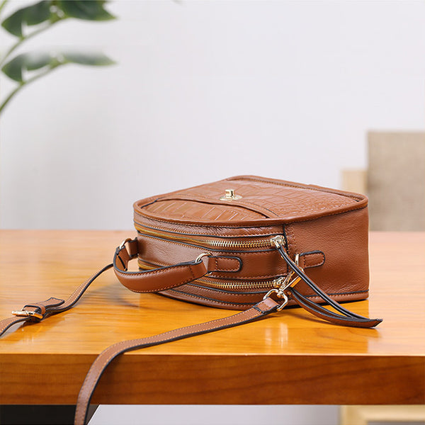Vintage Leather Womens Crossbody Bags Shoulder Bag Purses for Women Genuine Leather