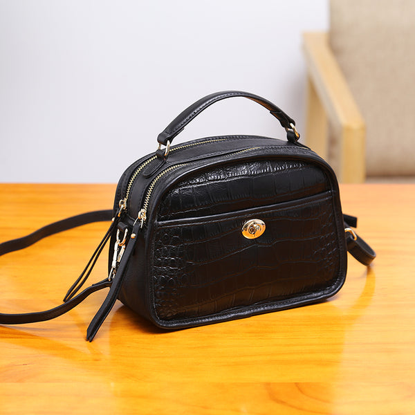 Vintage Leather Womens Crossbody Bags Shoulder Bag Purses for Women beautiful