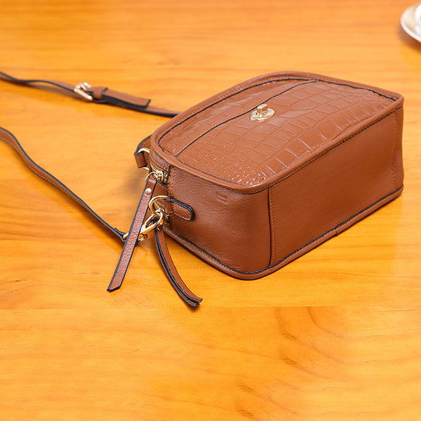 Vintage Leather Womens Crossbody Bags Shoulder Bag Purses for Women fashion