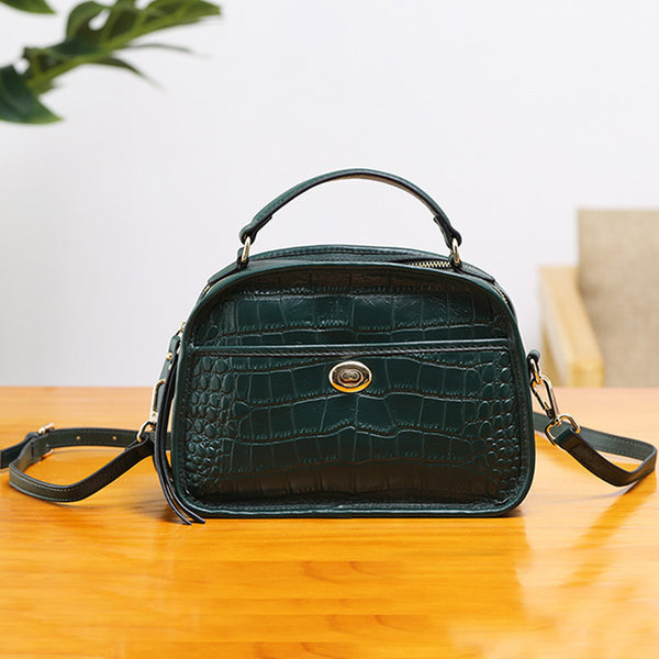 Vintage Leather Womens Crossbody Bags Shoulder Bag Purses for Women gift