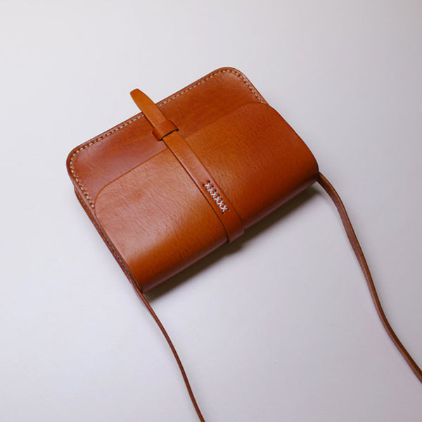 Vintage Small Handmade Leather Crossbody Shoulder Bags women