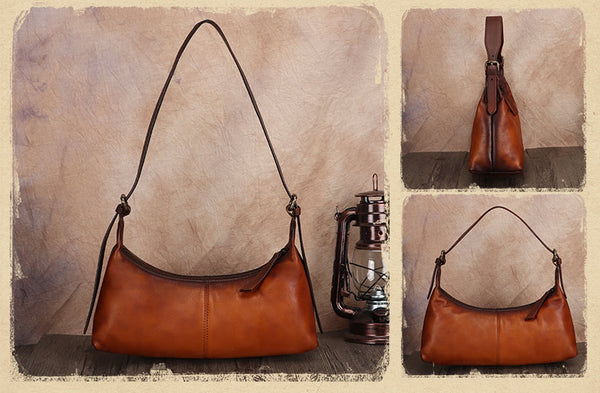 Vintage-Small-Ladies-Leather-Shoulder-Bag-Purse-Handbags-For-Women-Brown